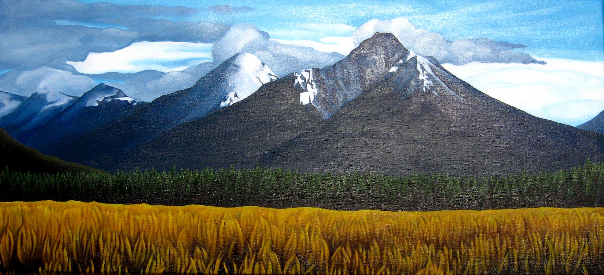 Mountains, Bowron lakes, landsacape