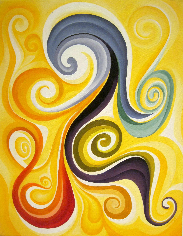 Swirl painting, vibrant colours, healing art, spiritual art